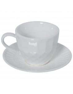Set 6 Tazas Café Con Plato...